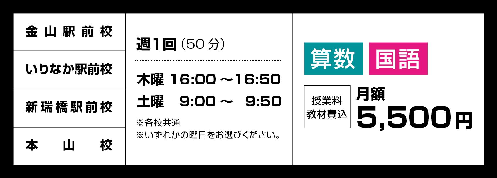 中学受験準備コース詳細